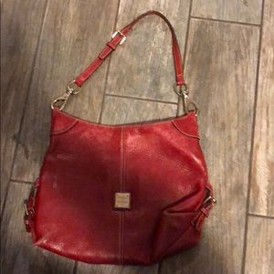 Red leather Dooney and Bourke bag